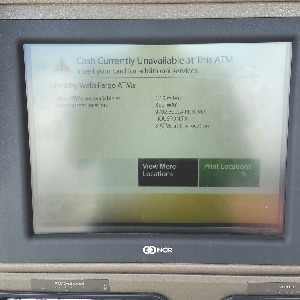 Perfect for a labor day weekend  ATM is out of order  - Yelp