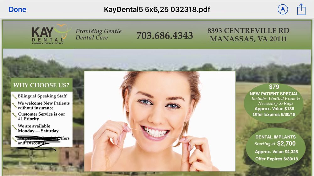 Kay Dental Care: 8393 Centreville Rd, Manassas, VA