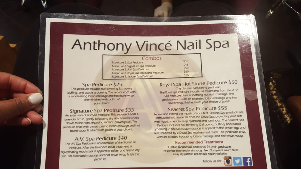 Nail Spa Price List