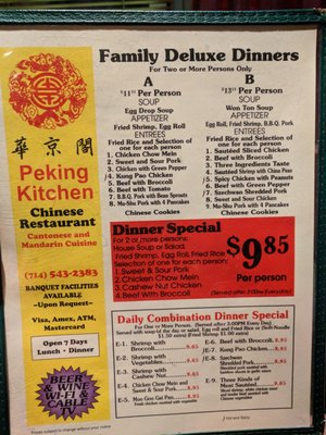 Peking Kitchen 413 W 17th St Santa Ana Ca Restaurants