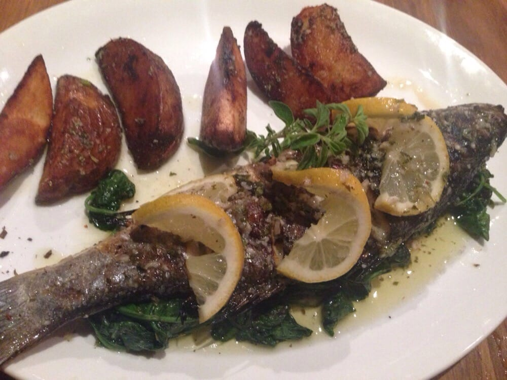 Sea bass special dinner was delish it 39 s very filling and for Authentic greek cuisine