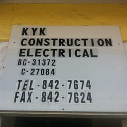 Kyk electrical llc elettricisti 819 moowaa st kalihi for Lucernari di hawaii llc