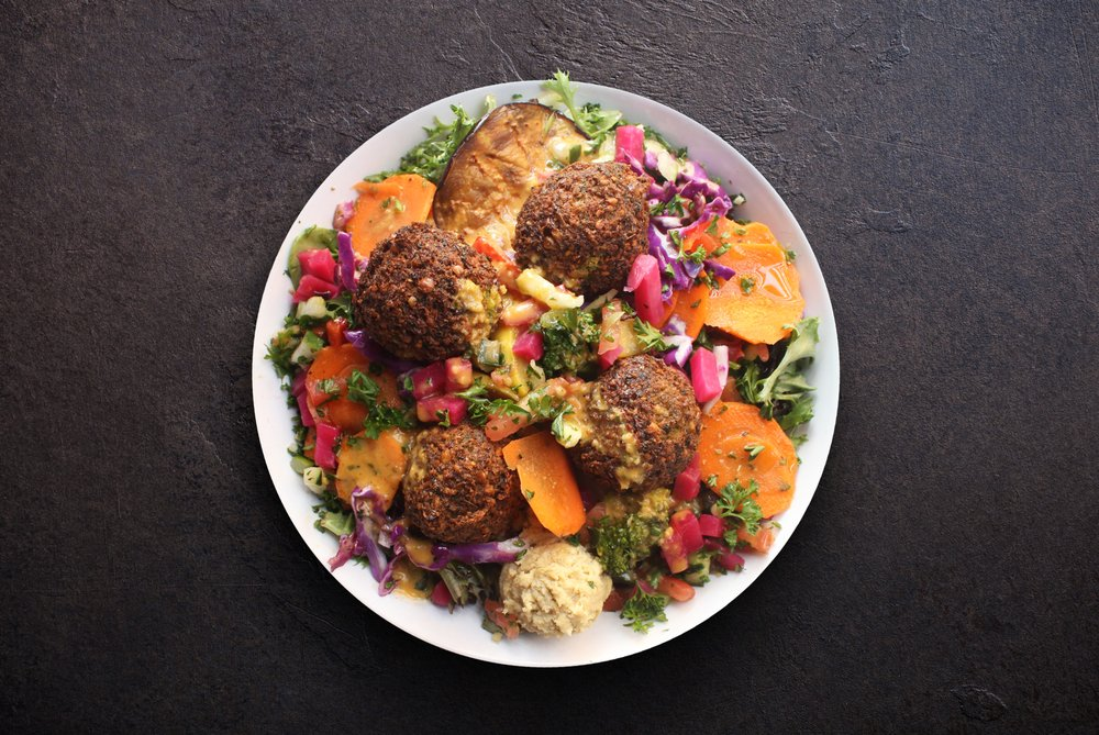 Food from Mezeh Mediterranean Grill - Raleigh Spring Forest
