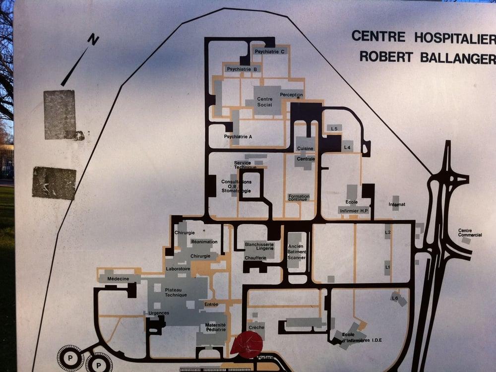 H u00f4pital Robert Ballanger Vårdcentraler Boulevard Robert Ballanger, Aulnay Sous Bois, Seine  # Hopital Robert Ballanger Aulnay Sous Bois
