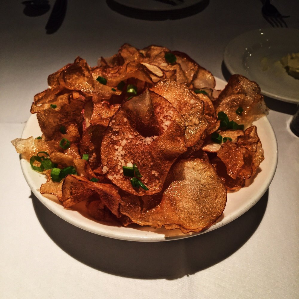 Delmonico Potatoes: Truffle Parmesan Potato Chips