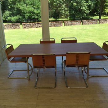 Photo Of Farnsworth House Visitor Center   Plano, IL, United States. Dinner  Table