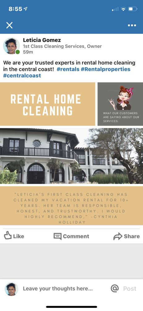 Leticia's First Class Cleaning Services