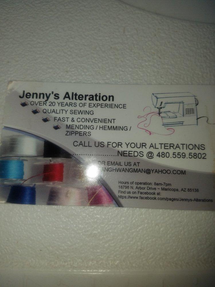 Jenny's Alterations: Maricopa, AZ
