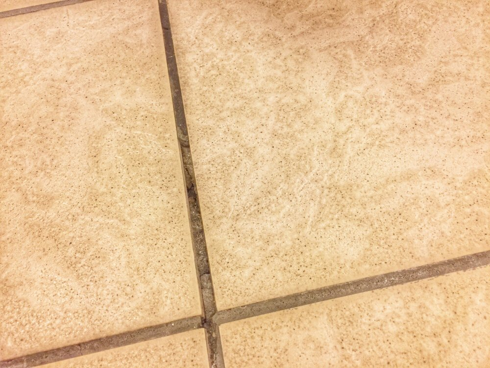 Another Picture Of The Grout Coming Out Of Their Floor This Is Why