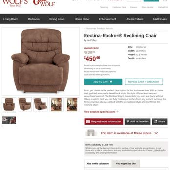 Photo Of Wolf Furniture   York, PA, United States. Rocking Recliner