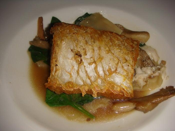 Pan seared sea bass yelp for Fish and farm sf