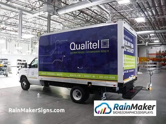 Premium Printed Vinyl Box Truck Wrap Qualitel Everett