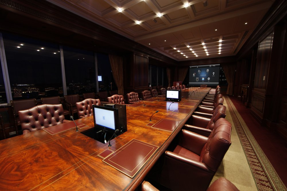 Boardroom with Control4 user interface  - Yelp