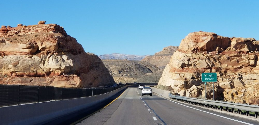 Virgin River Gorge: Interstate 15, Littlefield, AZ