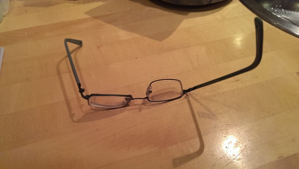 The Vision Care Clinic was able to repair these frames and make them ...