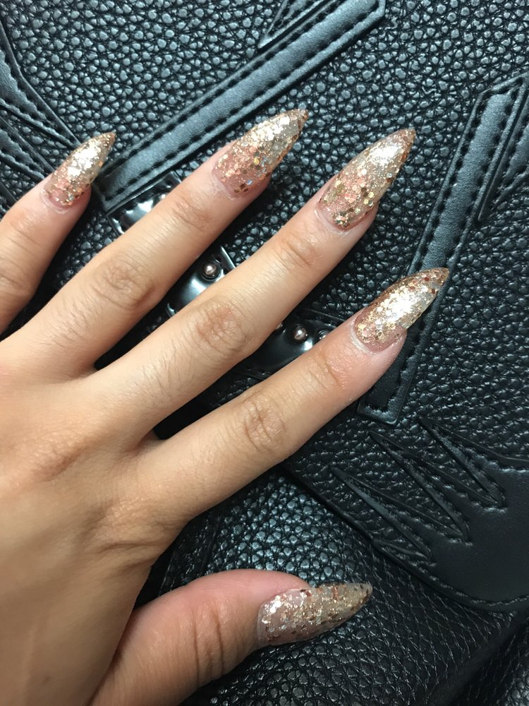 Photo Of Jj Nails El Monte Ca United States Rose Gold Glitter