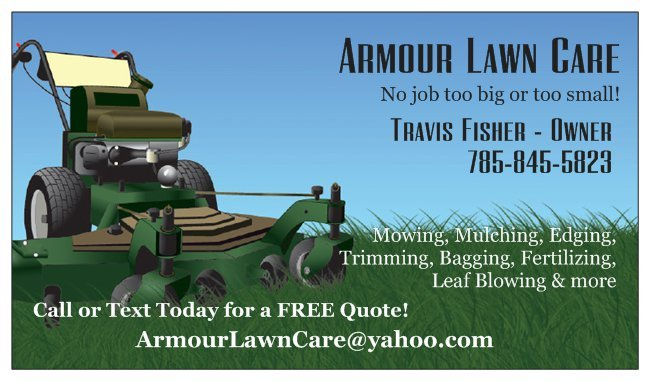 photo of armour lawn care berryton ks united states business card - Lawn Service Business Cards