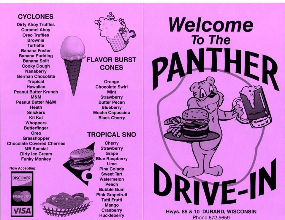 Panther Drive-In: 1018 E Prospect St, Durand, WI