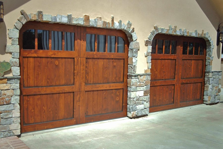 Rw garage doors vineyard french country stain grade for French country garage doors