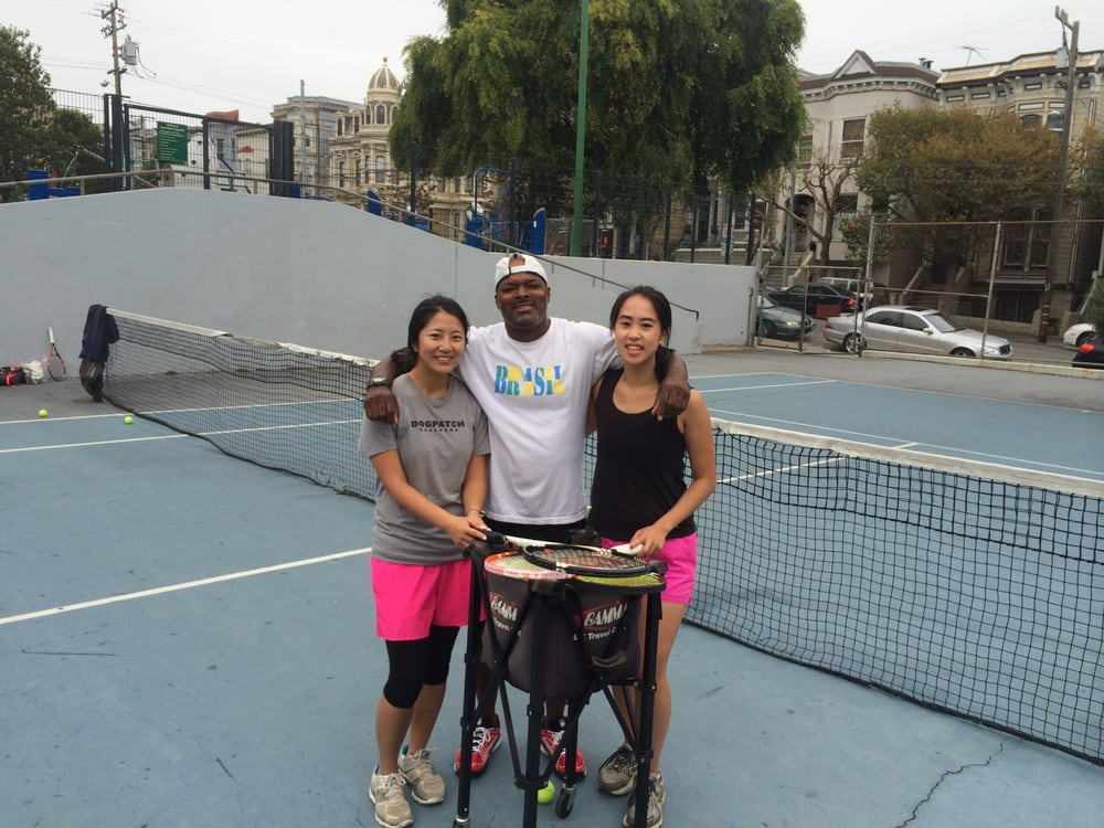 Photo of Tennis Lessons By Mcclain - San Francisco, CA, United States. Coach Mcclain and Penny and Jessica, they are so dedicated, they play like 2 hrs after every lesson, that's how you get better