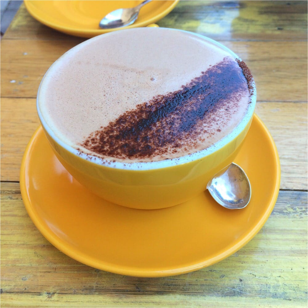 Spiced cacao tea with soy milk - Yelp