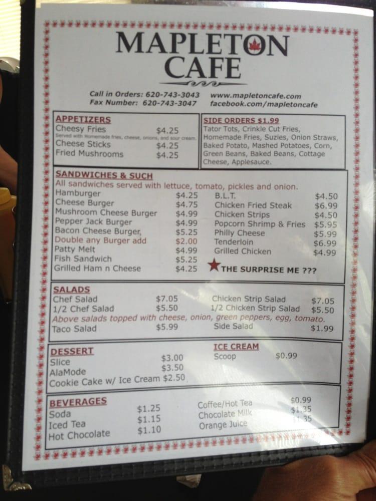 Mapleton C-Store & Cafe: 423 N Bourbon St, Mapleton, KS