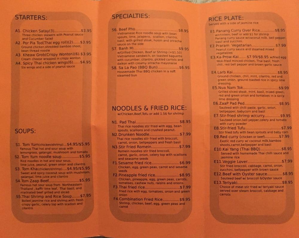 menu - yelp