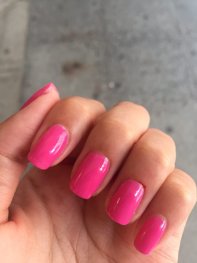 Bubble Nails: Pretty In Pink! But Got A Little Cut On The Ring Finger