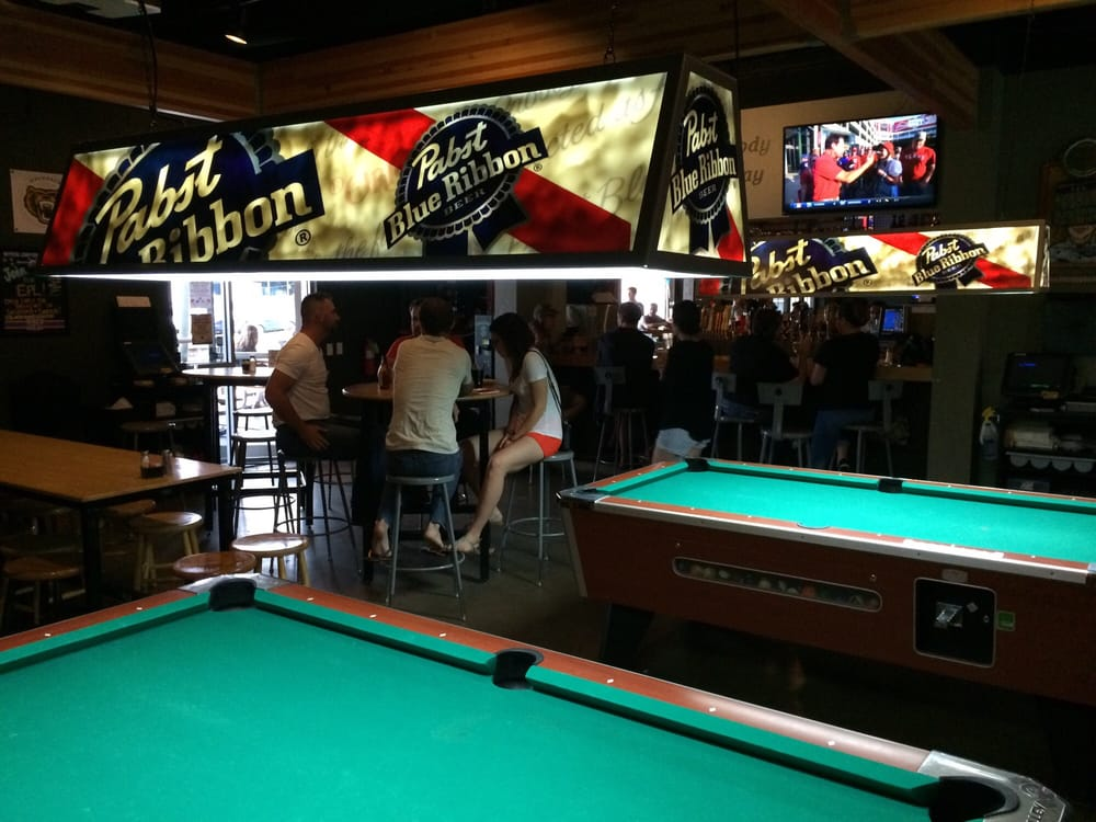 Photo of Haymaker - Austin, TX, United States. Pool And Pabst- a winning combination