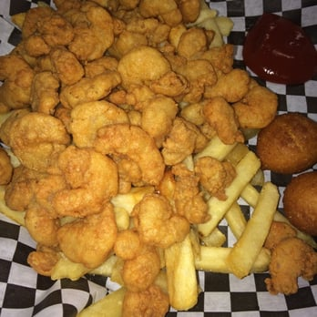 Photo Of Ocean Blue Seafood Restaurant Greensboro Nc United States Popcorn Shrimp