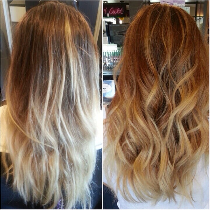 Before And After Haircut And Balayage By Salon Drew Yelp