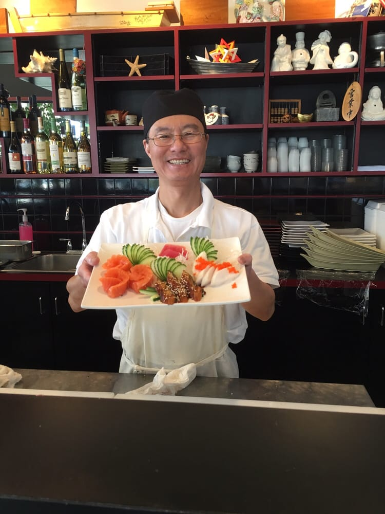 Sashimi and the owner ping yelp for Asia sushi bar and asian cuisine mashpee