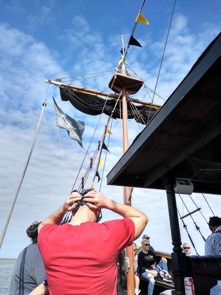 Pirate Ship At John's Pass: 140 Boardwalk Pl W, Madeira Beach, FL