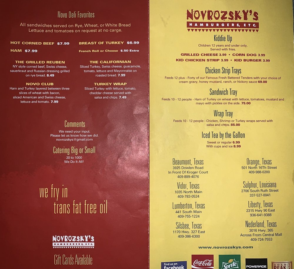Novrozsky's Hamburgers: 1170 Hwy 327 E, Silsbee, TX
