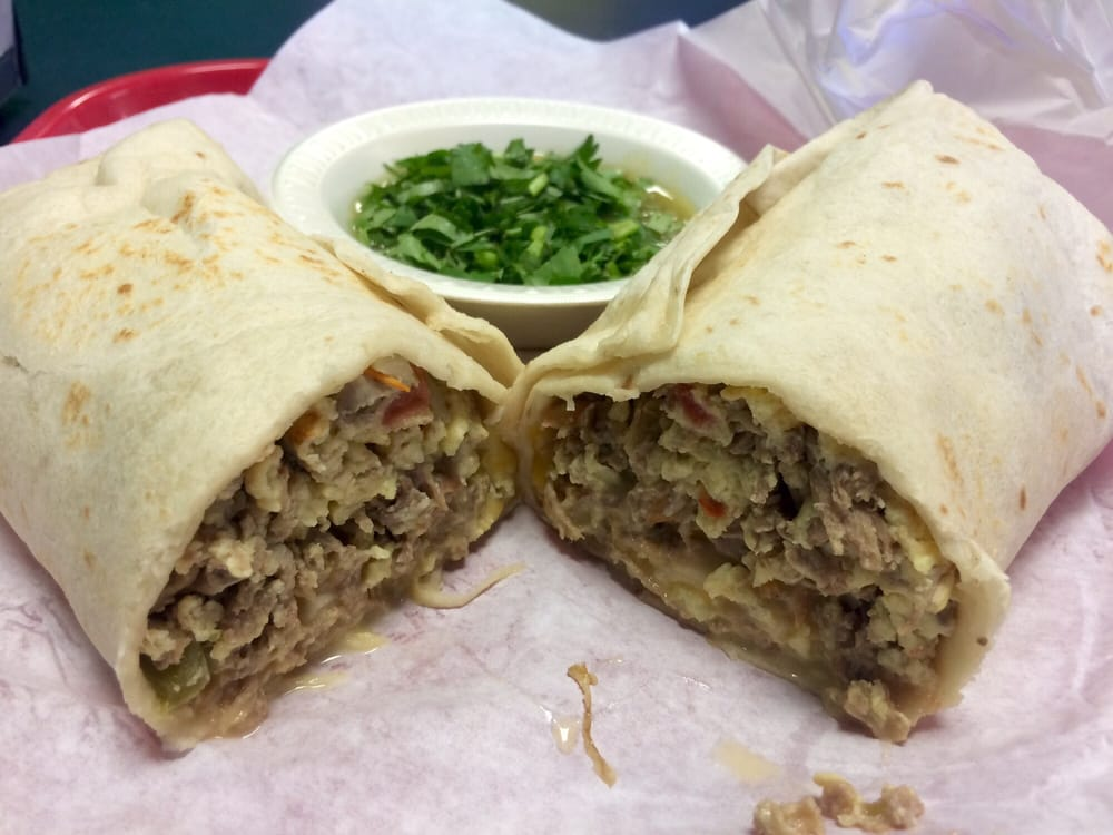 Machaca Breakfast Burrito Beef Eggs Bell Peppers Yelp