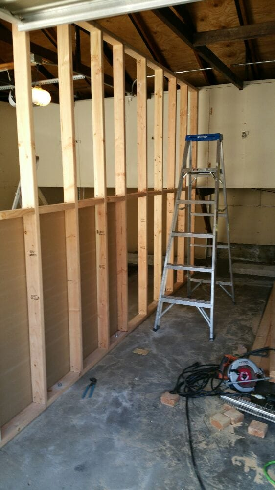 Building a wall to separate garage yelp for Separate garage