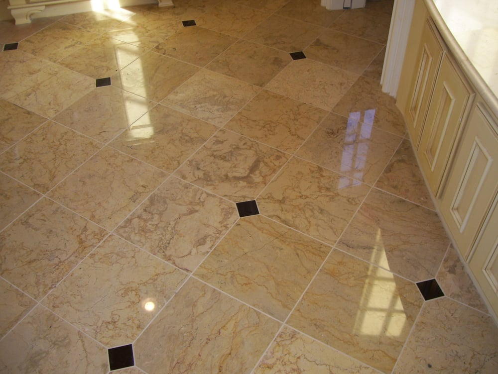 Master bathroom marble tiles heated flooring with clip Master bathroom tile floor
