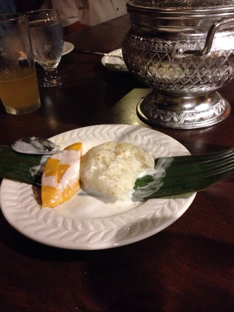 Sticky rice with mango for dessert. - Yelp