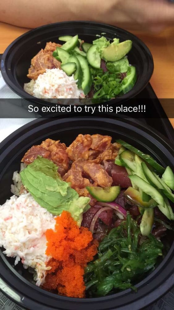 ... tuna, crabmeat, brown rice, avocado, masago, and seaweed salad - Yelp