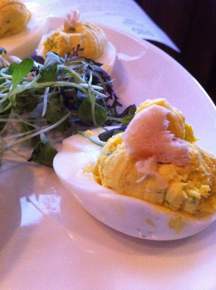 smoked trout deviled eggs yardbird deviled eggs the devilled eggs ...