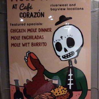Cafe Corazon Bayview Menu