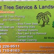 photo of mendez tree service and landscaping los angeles ca united states - Tree Service Business Cards