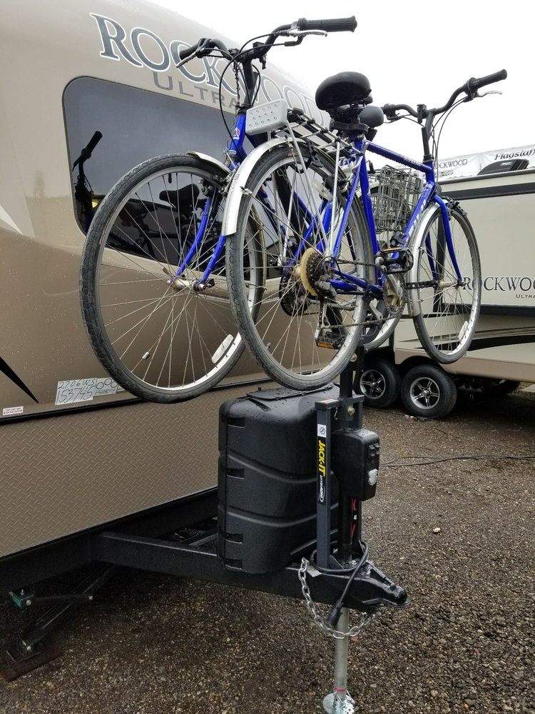 Travel Trailers Near Me >> I bought this front travel trailer bike rack here and it's works perfect, I really like the ...