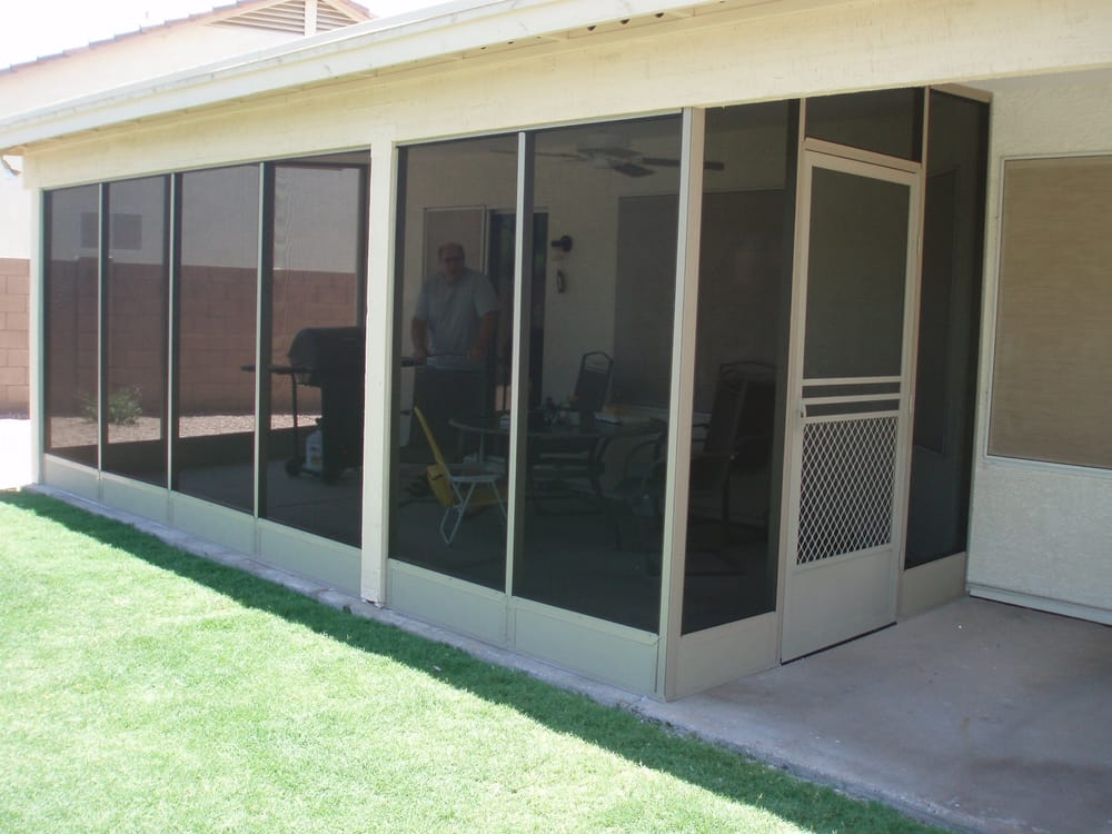 Patio Screen Enclosure With Phifer Pet Screen And 8
