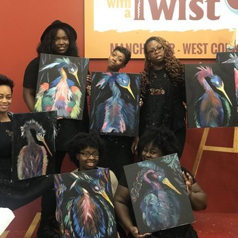 Painting with a Twist 13 s Paint & Sip Manchester