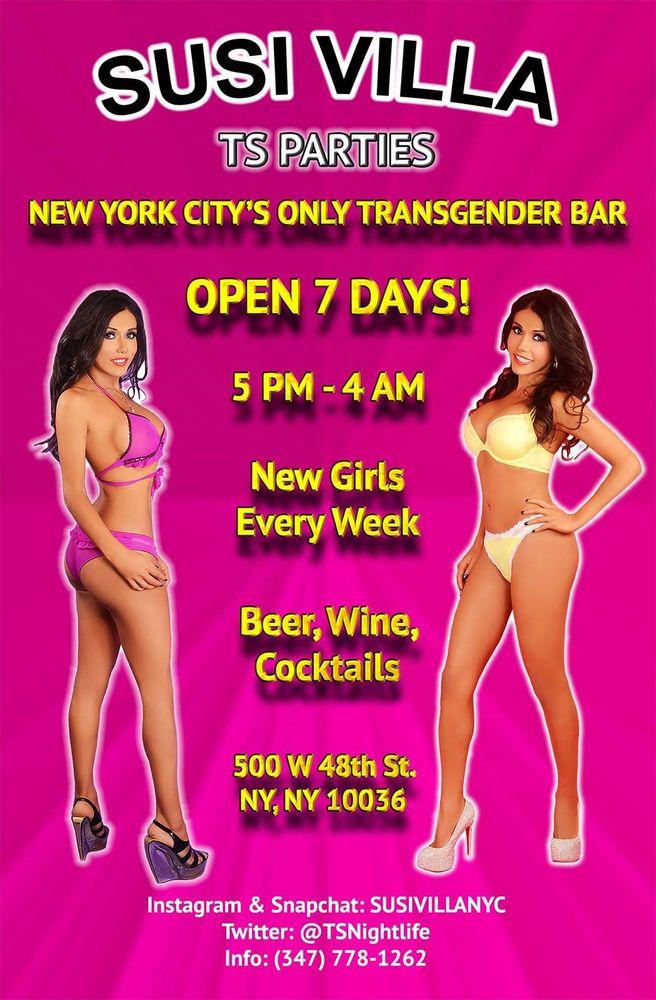 Susi Villa TS Bar - Transgender Parties: 500 W 48th St, New York, NY