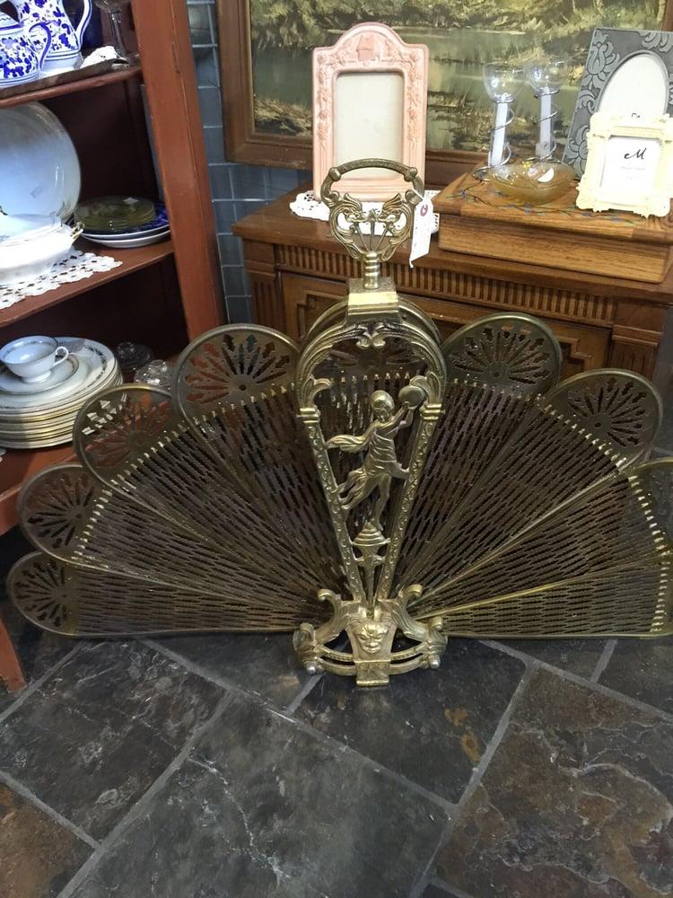 Antique Brass Fireplace Fan Screen Yelp