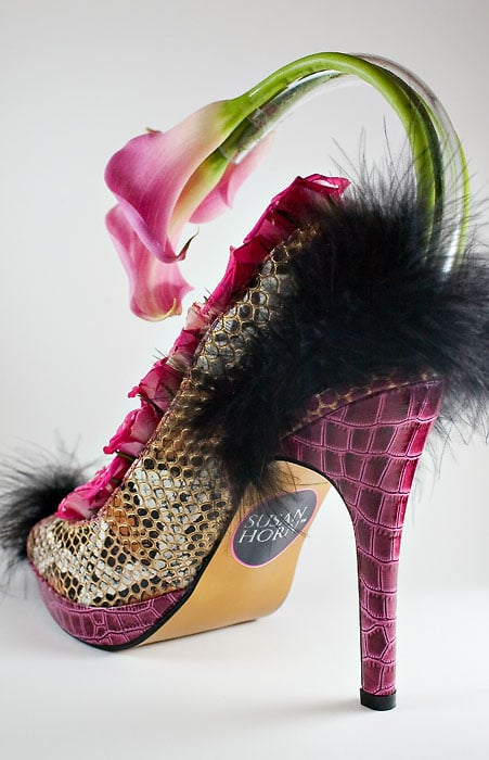 Pink high heel bouquet and or centerpiece yelp