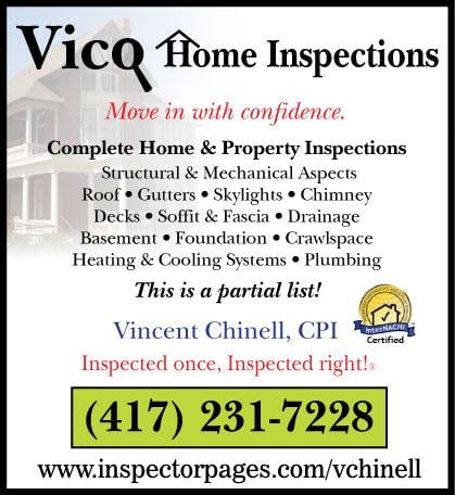 Vico Home Inspection: 2366 State Hwy Y, Forsyth, MO