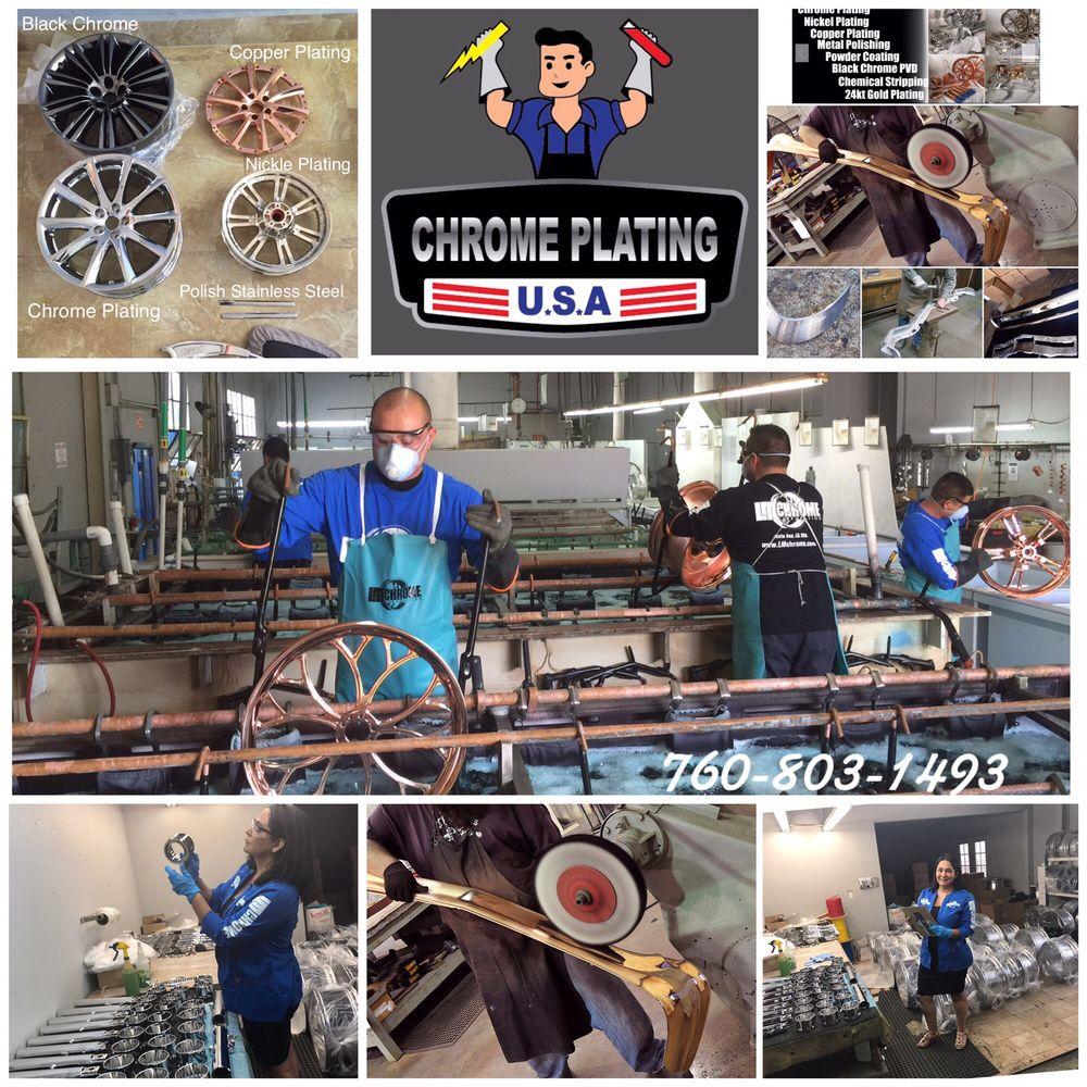 In House chrome plating and metal polishing. San Marcos , Santa Ana ...
